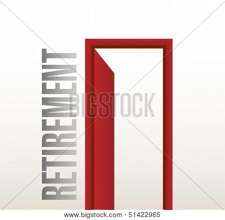 Retirement Door Open Illustration Design