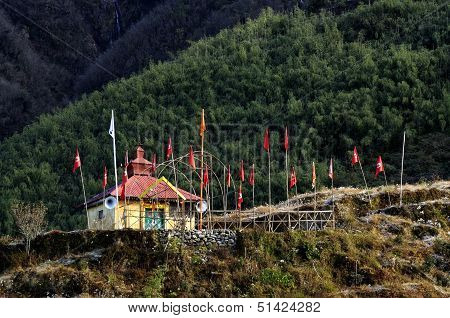 Hindu Mandir At Dzuluk Village, Sikkim,