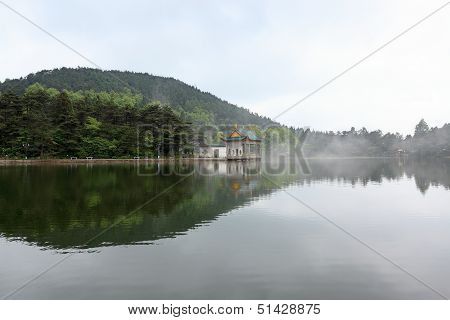 Beautiful Lake In Lushan