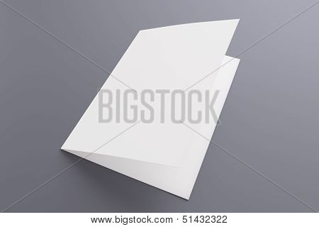 Blank Card Isolated On Grey