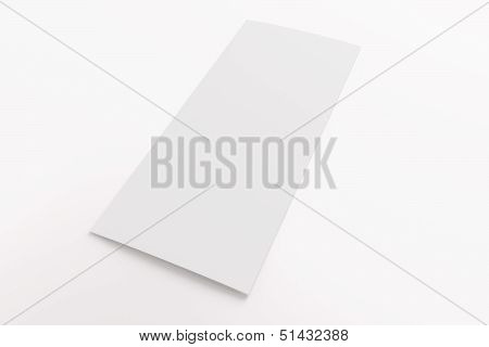 Blank Tri Fold Brochure Isolated On White