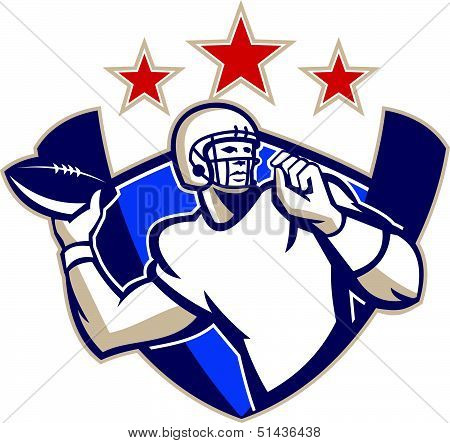 Gridiron Football Quarterback Throw Ball