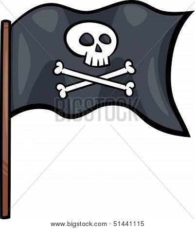 Pirate Flag Cartoon Clip Art