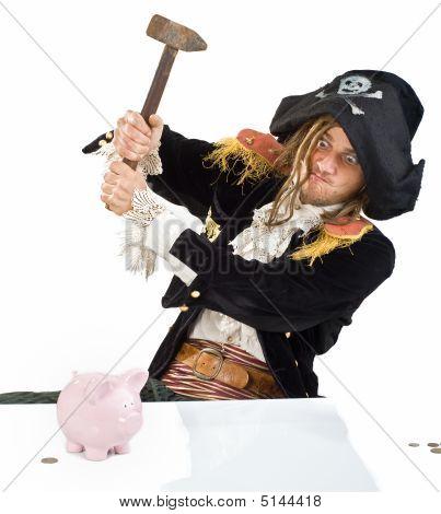 Pirate And Piggybank