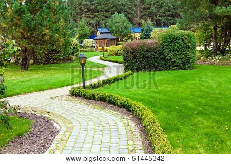 Beautiful park garden