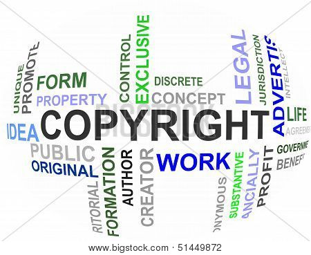 Copyright - Word Cloud