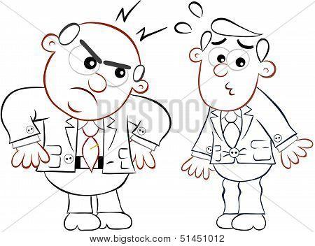 Boss Man Angry At Employee
