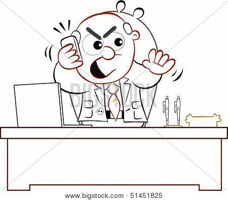 Boss Man Angry On Phone