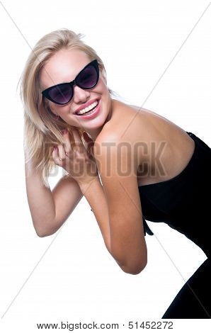 Funny Girl In Glasses