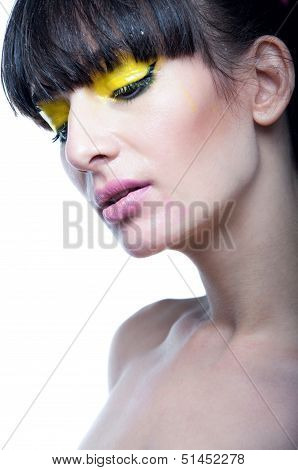 Sensual Woman With Bright Makeup