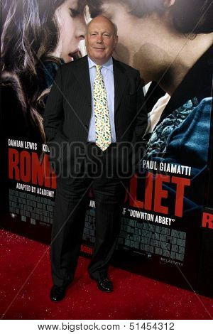 LOS ANGELES - SEP 24:  Julian Fellowes at the Romeo & Juliet Premiere at ArcLight Hollywood Theaters on September 24, 2013 in Los Angeles, CA