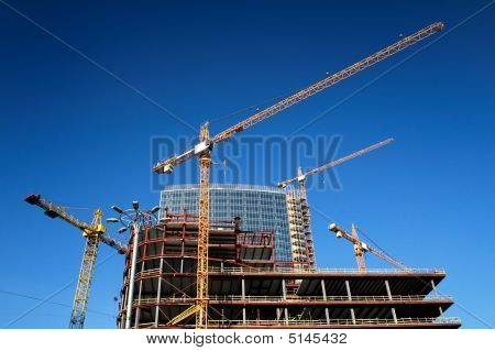 Concrete Highrise Construction Site
