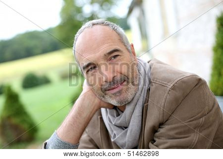 Portrait of handsome 50-year-old man