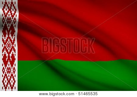 Series Of Ruffled Flags. Belarus.