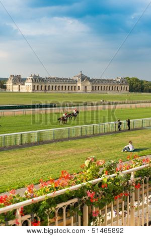 Horserace in Chantilly, France