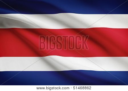 Series Of Ruffled Flags. Republic Of Costa Rica