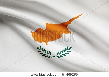 Series Of Ruffled Flags. Republic Of Cyprus.