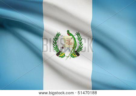 Series Of Ruffled Flags. Republic Of Guatemala.