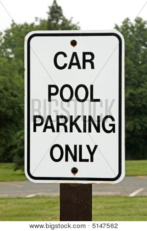 Car Pool Parking Sign