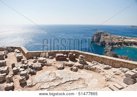 Ancient temple of Apollo at Lindos, Rhodes island
