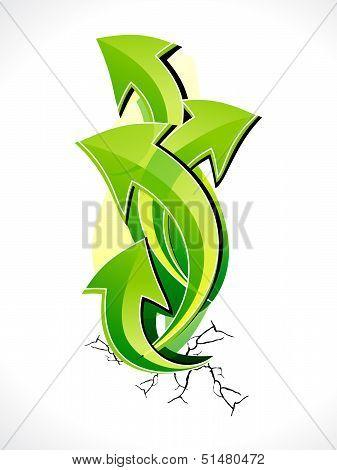 Abstract Growth Arrow Design