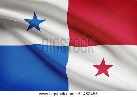 Series Of Ruffled Flags. Republic Of Panama.