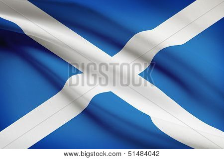Series Of Ruffled Flags. Scotland.