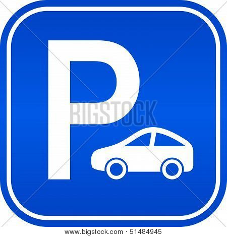Car parking vector sign