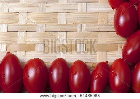 Small Oblong Red Ripe Tomatoes