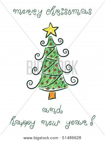 Doodle Christmas tree