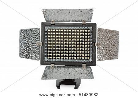 Video Lighting Led, Isolated On White  Background, With Clipping Path