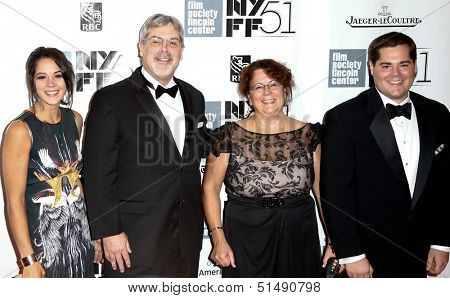 NEW YORK-SEP 27: (l-r) Mariah, Captain Richard Phillips, Andrea & Daniel attend the
