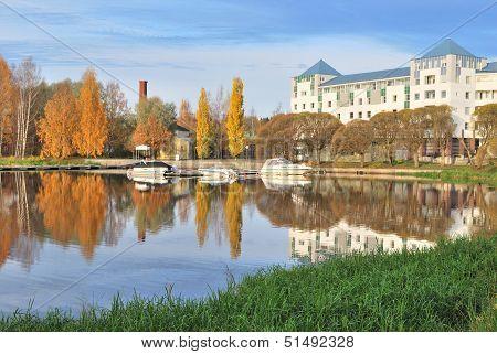Finland. Hameenlinna  In  Autumn