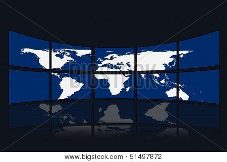 Screen World Map