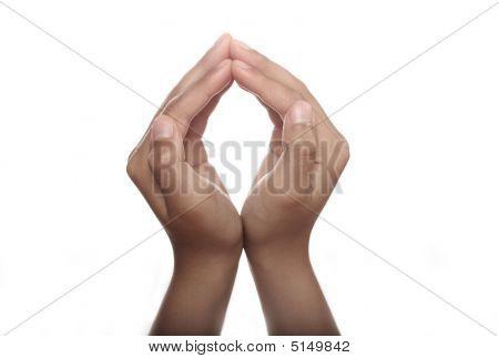 Two Hands Open In Prayer