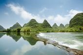 Beautiful Karst Landform With The Yulong River