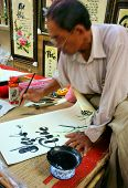 Calligrapher draw handwriting