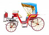 foto of chariot  - old horse drawn carriage isolated on white background - JPG
