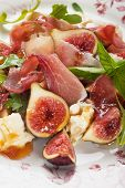 Prosciutto di Parma salad with figs and mozzarella cheese