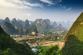 Chinese Mountain Landscape In Guilin Yangshuo