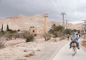 stock photo of jericho  - Landscape of jericho and judean desert travel - JPG