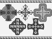 image of maltese-cross  - Set celtic crosses with an ornament in a vector - JPG