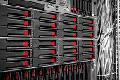foto of mainframe  - Mainframe of a data server closeup photo - JPG