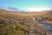 pic of taimyr  - Photo waterfall made during a hike in 2011 on the Putorana plateau - JPG