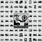 stock photo of pedestrians  - Transportation icons - JPG