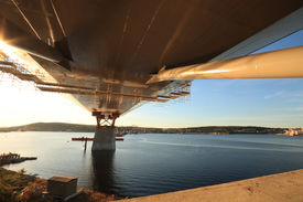 pic of flatboat  - Bridge support reacing out