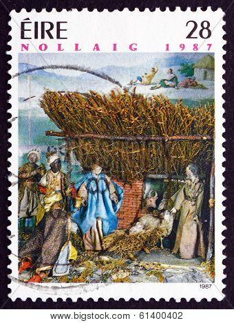 Postage Stamp Ireland 1987 Neapolitan Creche, Christmas
