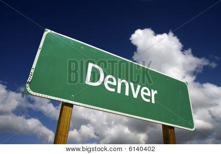 Denver Green Road Sign