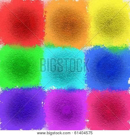 Glitter Paint Daubs