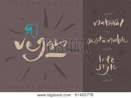 Vegetarian - Vegan - Calligraphy